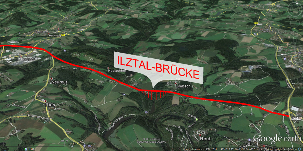 Google Earth Nordtangente Ilztal