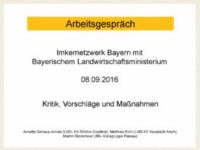 Imkernetzwerk Bayern mit Bayerischem Landwirtschaftministerium